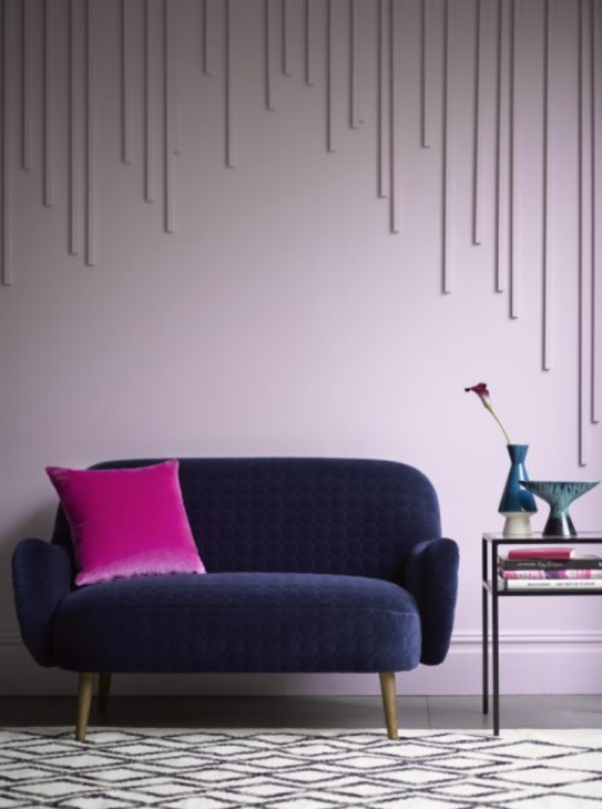 purple accent walls
