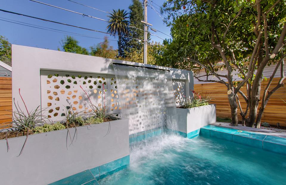 Mediterranean Inspired California Backyard