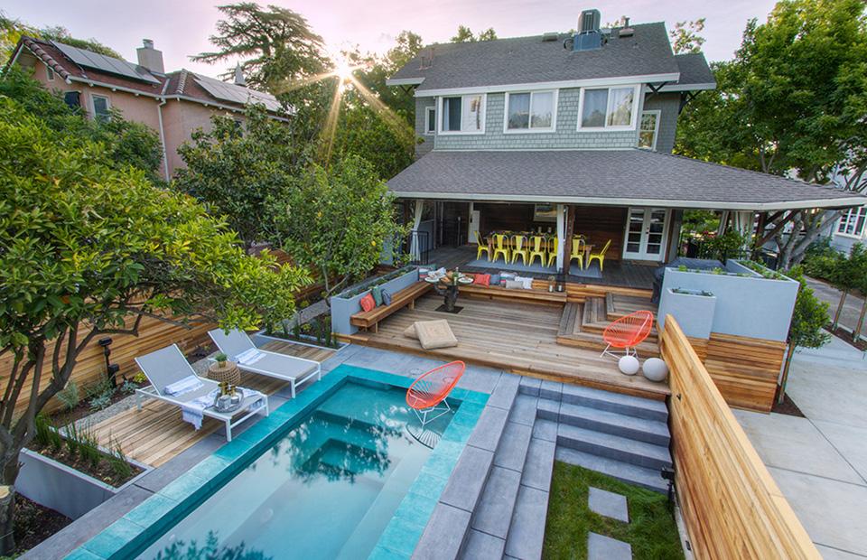 East Sac Mediterranean Inspired California Backyard