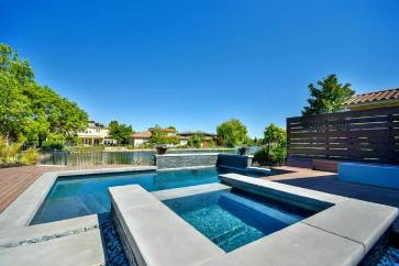 Davis Custom Pool, Outdoor Kitchen, and Backyard